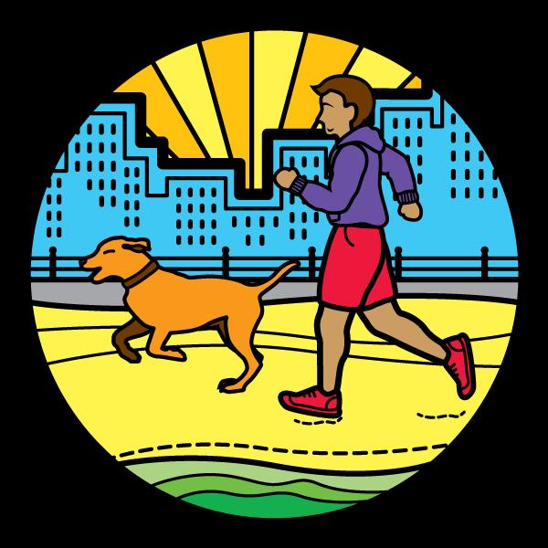 beach running dog virginia