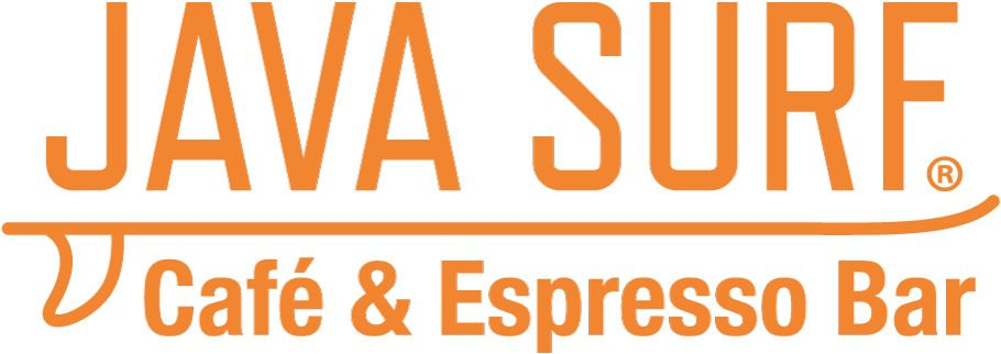 java surf cafe logo orange