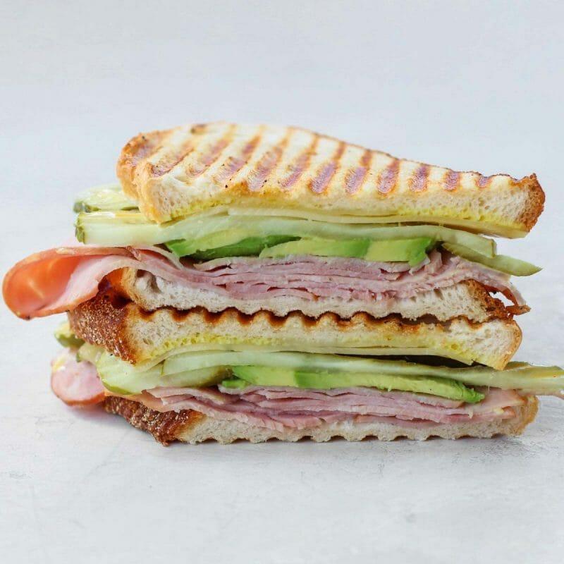 avocado cubano hot lunch sandwich