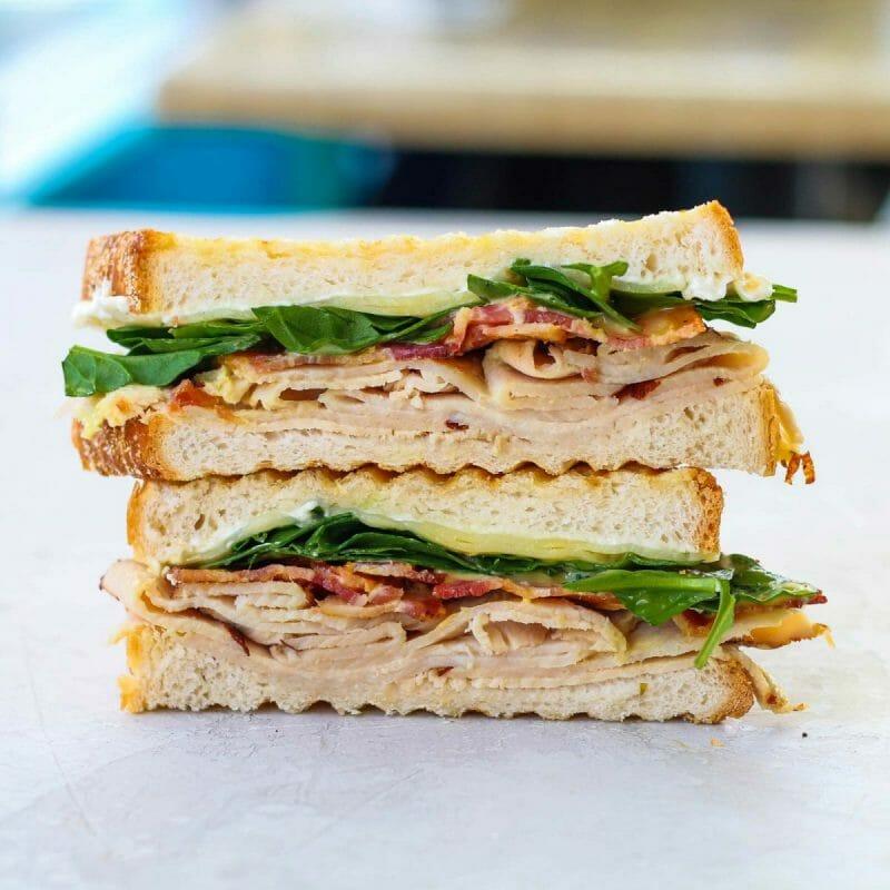 turkey bacon cream cheese panini sandwich