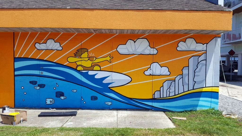 Ben Hamrick mural Virginia Beach