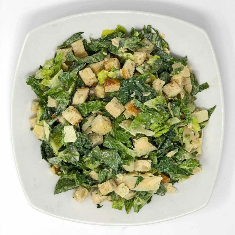 caesar salad healthy lunch romaine crouton