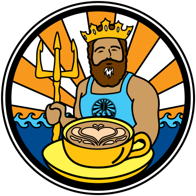 java surf king Neptune latte