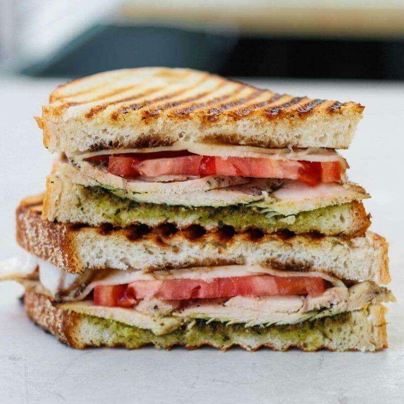 chicken pesto hot lunch sandwich